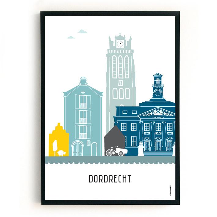 Poster Dordrecht - custom
