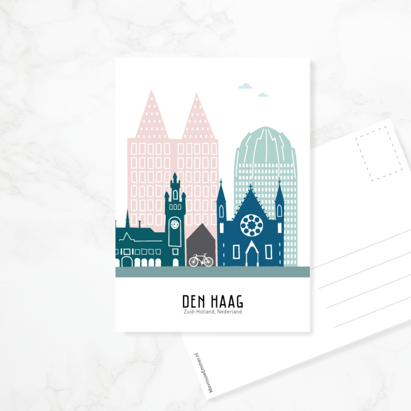 Ansichtkaart Den Haag - kleur