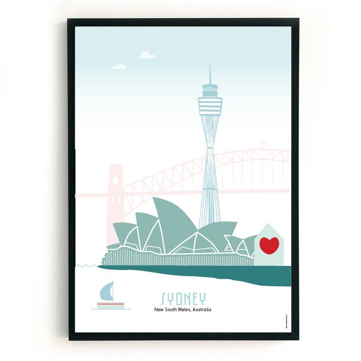 Poster Sydney in kleur