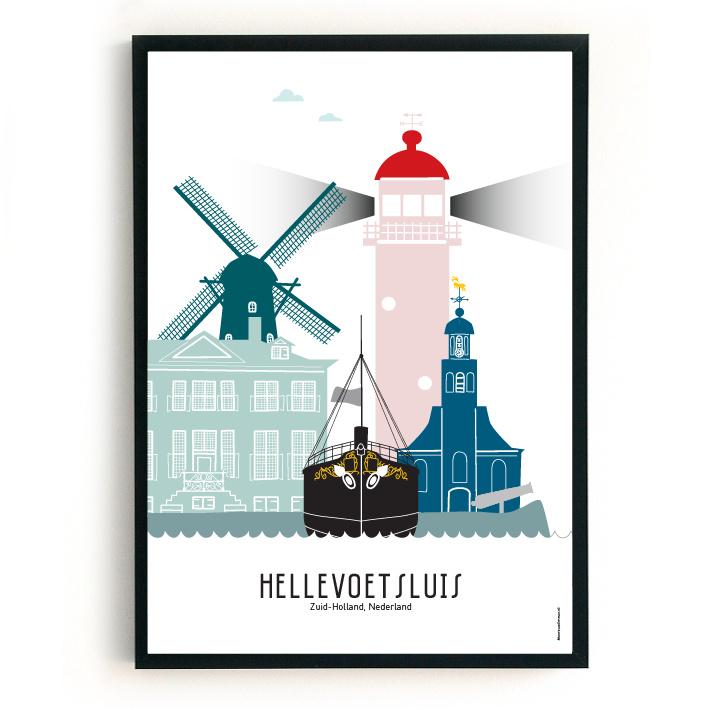 Poster Hellevoetsluis in kleur