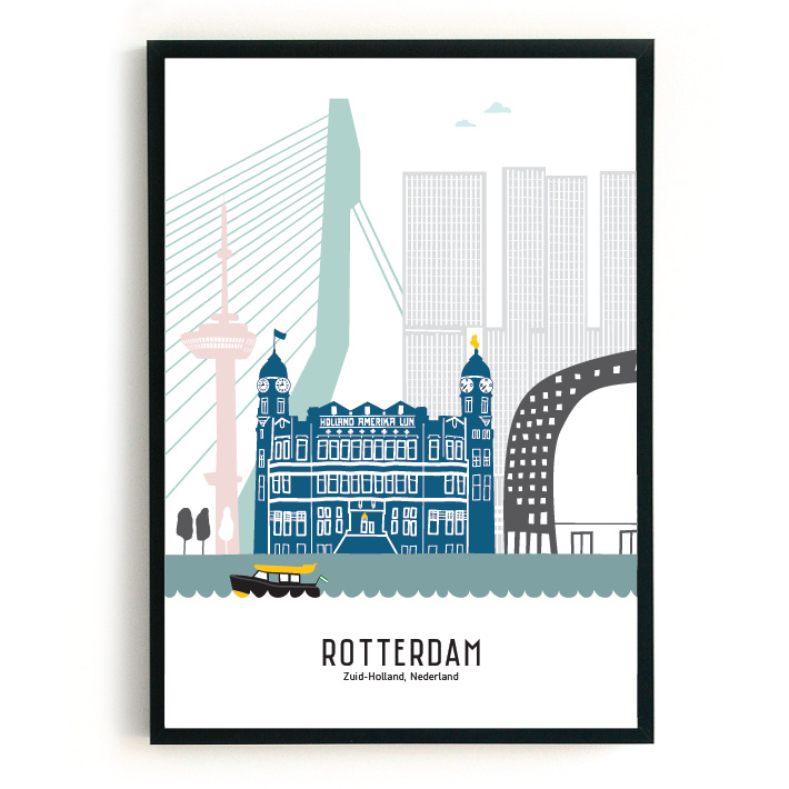 Poster Rotterdam in kleur