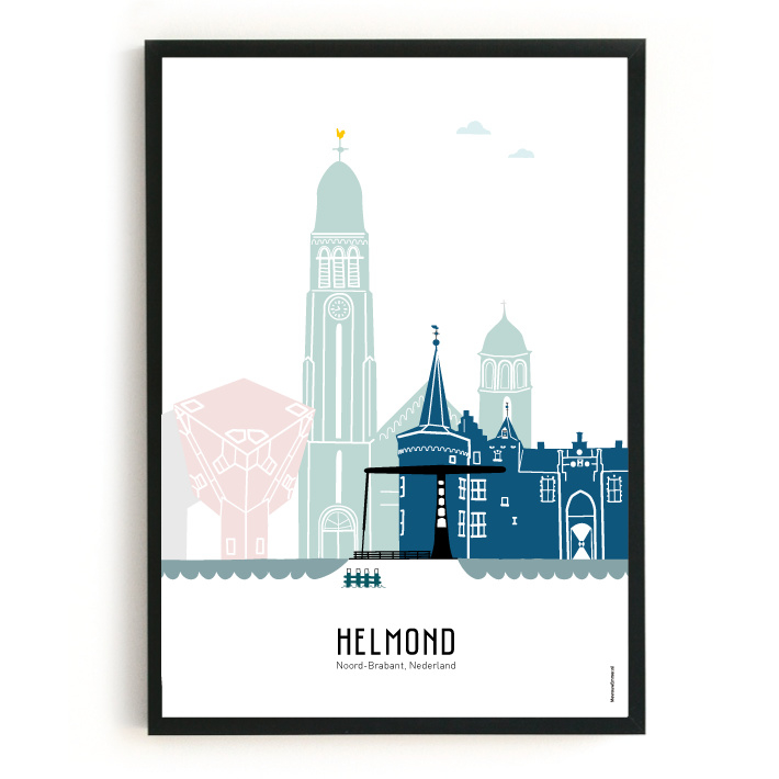 Poster Helmond in kleur