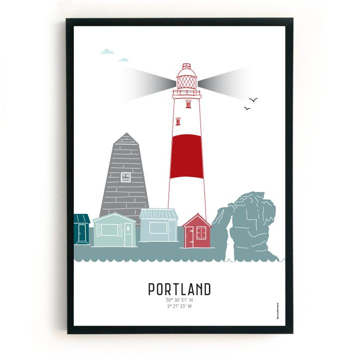 Poster Portland in kleur