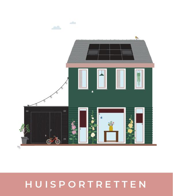 huisportretten illustraties