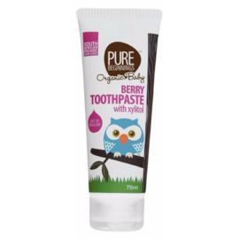 Berry Toothpaste met xylitol, fluoridevrij (75ml)