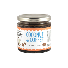 Coffee & Coconut Scrub glas