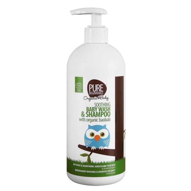 Soothing Baby Wash & Shampoo met biologische baobab (500 ml)