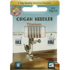 Organ naaimachinenaald titanium dikte 75