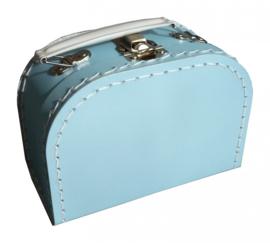Koffertje lichtblauw 16 cm