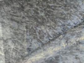 Velours de panne zilvergrijs