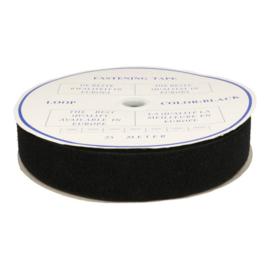 Klittenband naaibaar zwart 50 mm