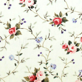 Tissu de Marie bloem klein 100 % katoen