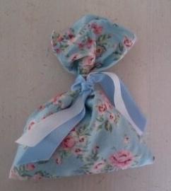 Mottenzakje blauw bloem
