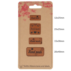 Opry skai leren label Handmade