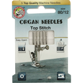 Organ naaimachinenaalden top stitch dikte 80