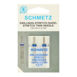 Schmetz stretch tweelingnaald 2 stuks 2.5 - 75