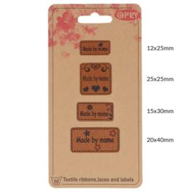 Opry skai leren label Made by Mama