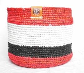 366 - zwart/wit/rood