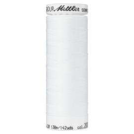 Seraflex elastisch machinegaren - wit 2000