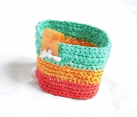 412 - armband groen/oranje