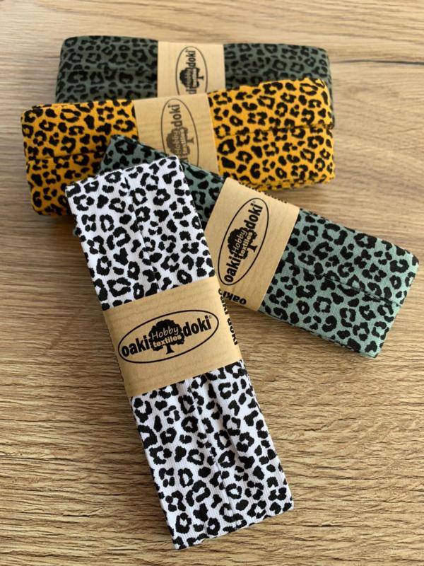Oaki Doki biaisband luipaard print