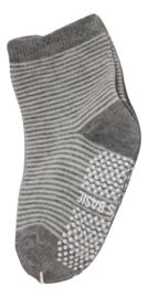 Sokjes met grip grijs/wit