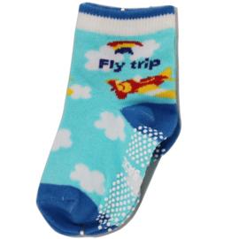 Sokjes met vliegtuig