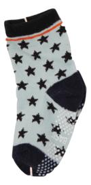 Sokjes met grip sterren blauw