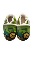 Traktor gevoerde leren slofjes