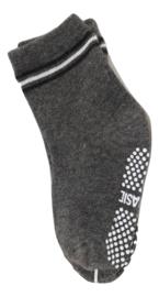 Sokjes met grip donker grijs