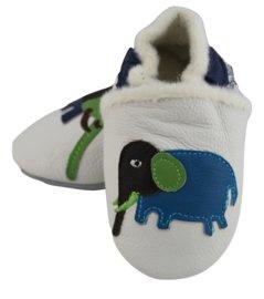 Elefanten gefüttert Leder Schuhe