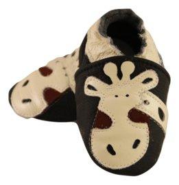 Giraffe Leder Hausschuhe