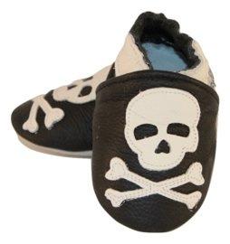 Piraten Leder Hausschuhe