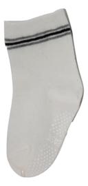 Sokjes met grip wit/grijs