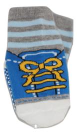 Sokjes met grip blauwe schoentjes