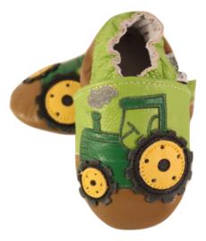 Traktor Leder Hausschuhe