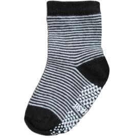 Sokjes met grip zwart/wit