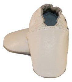 Weiße Leder Hausschuhe