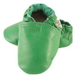 Grüne Leder Hausschuhe