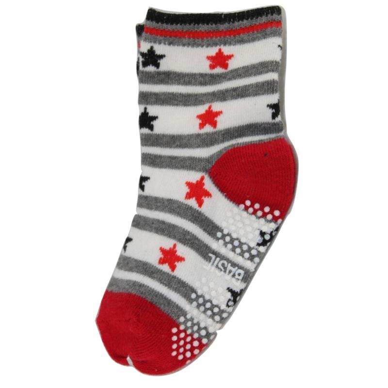 Sokjes met grip rode sterren