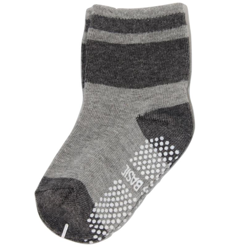 Sokjes met grip grijs