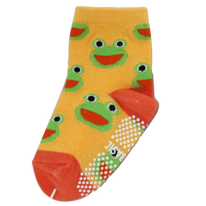 Sokjes met grip kikkers