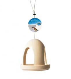 Ceramic bird feeder abdi Wit 14x14x14CM