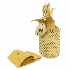 Back Zoo Nature Woven Bag with Bark Leaf
