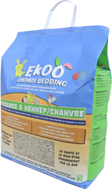 Ekoo Animal Bedding ekobiose & hennep, 25 liter.
