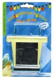 HAPPY PET FUN AT THE FAIR BIG MIRROR PERCH 12X10X2,5 CM SPIEGEL 7X7 CM