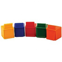 Coloured Cubes - pack of 5