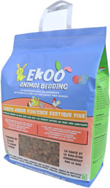 Ekoo Animal Bedding exotic kokos fijn, 25 liter.