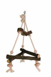 Birdtoy triangel natuurhout, natural living 27x27x27cm