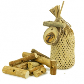 Back Zoo Nature Woven Bag with Teak Logs